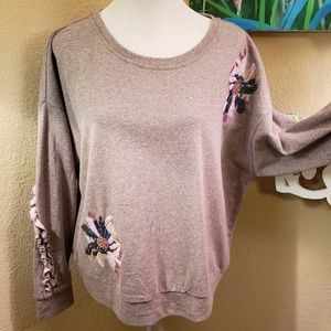 *NwT* Vinatage America Top w/ Beaded Embellishment